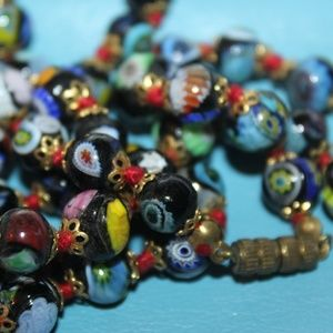 VTG Art deco Venetian Millefiori Necklace NG1